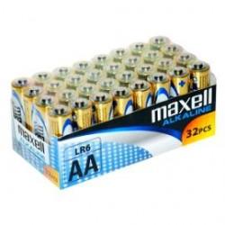 Maxell Alkaline Battery AA LR6 32pcs Shrink single packed 790261.04.CN