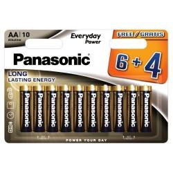 Panasonic AA Alkaline Long Lasting Batteries 10pcs LR6 1.5V LR6EPS/10BW