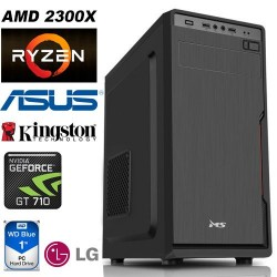 Desktop PC AMD Ryzen 2300X ASUS Prime A320M GeForce GT 710 2GB