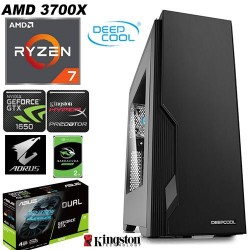 Desktop PC Gaming Elite AMD Ryzen 3700X 8-Core Gigabyte Aorus GTX 1650 4GB 240GB SSD 16GB DDR4