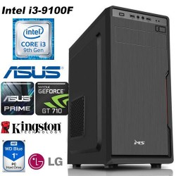 Desktop PC Office Intel i3-9100F 4GB DDR4 1TB WD HDD Asus Prime H310M-K
