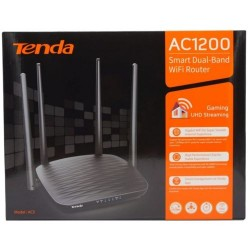 Tenda Router AC1200 Smart Dual-Band WiFi Router Gigabit