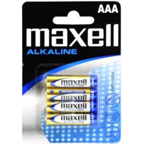 Maxell Alkaline Battery AAA LR03 4pcs BLISTER