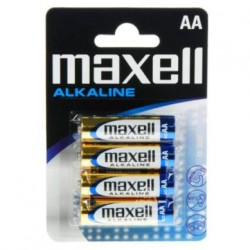 Maxell Alkaline Battery AA LR6 4pcs BLISTER