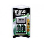 Maxell High-Speed Battery Charger + 4xAA recharg. batteries FREE