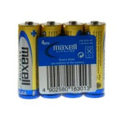 Maxell Alkaline Battery AA LR6 4pcs Shrink