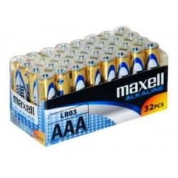 Maxell Alkaline Battery AAA LR03 32pcs Shrink single packed 790260.04.CN