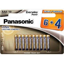 Panasonic AAA Alkaline Long Lasting Batteries 10pcs LR03 1.5V LR03EPS/10BW