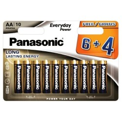 Panasonic AA Alkaline Long Lasting Batteries 10pcs LR6 1.5V LR6EPS/10BW