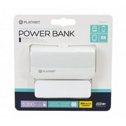 Platinet Power Bank leather 5200mAh White