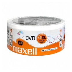 Maxell DVD+R DL 8.5GB Dual Layer 8x Ink Jet Wide Printable 240min 25pack