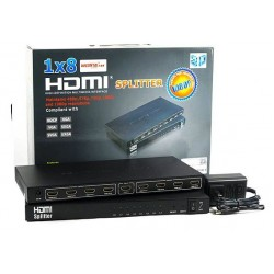 HDMI Splitter 8 Port UHD 4K x 2K 3D - Metal