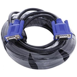 VGA Cable 15m 2 feedles 3+4 M-M High Quality 15pin Male
