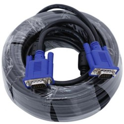VGA Cable 20m 2 feedles 3+4 M-M High Quality 15pin Male