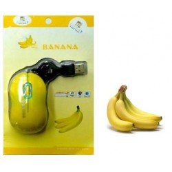 Mouse USB retractable banana