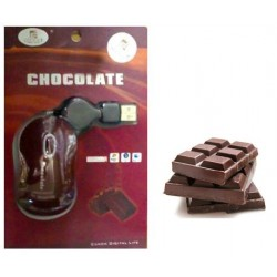Mouse USB retractable chocolate