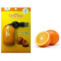 Mouse USB retractable orange