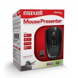 Maxell Wireless Presenter 2.4GHz Laser Air Mouse 1600dpi 4-in-1