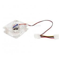 Computer Cooler 80mm 8cm 4 Pin Cooling Fan Silent Transparent LED Illuminated