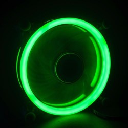 LED Illuminated Computer Cooler 120mm 12cm 4 + 3 Pin Cooling Fan Ultra Silent RGB Green Gaming