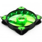 15x LED Illuminated Computer Cooler 120mm 12cm 4 + 3 Pin Cooling Fan Ultra Silent Green Gaming