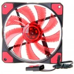 15x LED Illuminated Computer Cooler 120mm 12cm 4 + 3 Pin Cooling Fan Ultra Silent Red Gaming