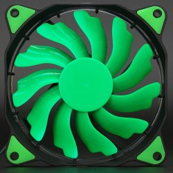 LED Illuminated Computer Cooler 120mm 12cm 4 + 3 Pin Cooling Fan Ultra Silent GREEN Gaming