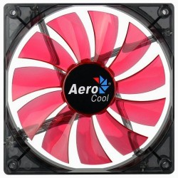 LED Illuminated Computer Cooler 140mm 14cm 4 + 3 Pin Cooling Fan Ultra Silent Red Gaming