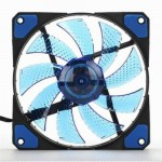 15x LED Illuminated Computer Cooler 120mm 12cm 4 + 3 Pin Cooling Fan Ultra Silent Blue Gaming