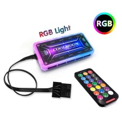 RGB LED Light Controller Symphony HUB DC Fan & Strip Remote Control for Gaming PC