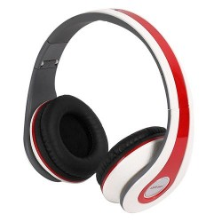 Ditmo DM-2590 Adjustable Foldable Stereo Super Bass Headphone White & Red