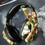 Pro Gaming BASS Headset AK45 Camouflage Big Headphones with Microphone for Gamers 4pin