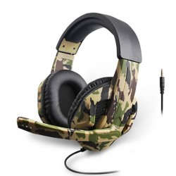 Pro Gaming Headset AK45 Camouflage Big Headphones with Microphone for Gamers