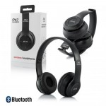 P47 Wireless Bluetooth Headphones v5.0 EDR Black with FM Radio Headset