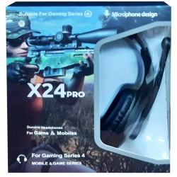 Gaming Headset X24Pro PUBG Limited Edition Headphones for Gamers