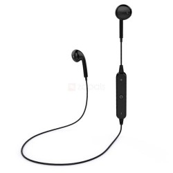S6 Wireless Bluetooth Headset iPhone & Android Sport Earphone Black