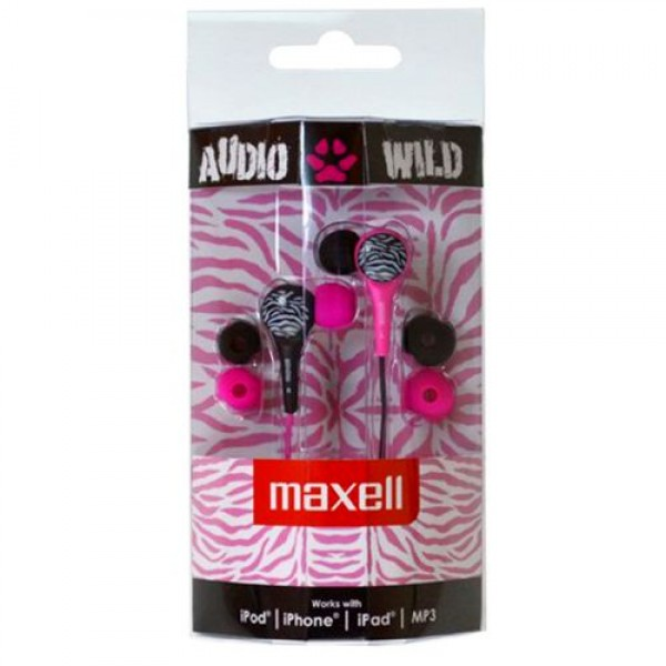 Maxell AUDIO WILD BUDS earphone Pink/Black