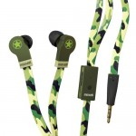 Maxell CAMO Urban Flat Wire Earphones with mic camouflage TRRS4