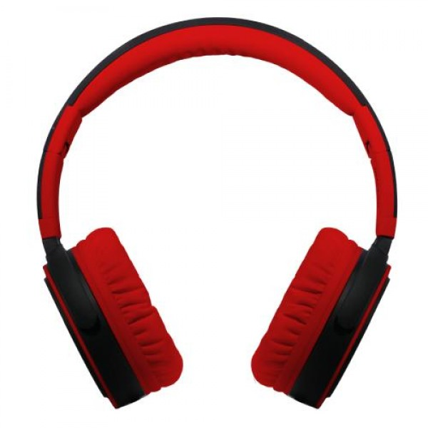 Maxell B52 Big Headphone Deep BASS Leather Foldable built in microphone Red