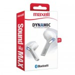Maxell TWS DYNAMICS EB-BT95 Bluetooth True Wireless Earbuds White