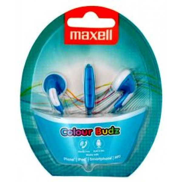 Maxell ColourBudz+Microphone Blue
