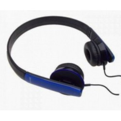 Maxell HP-Mic Leather Headphones Blue with microphone