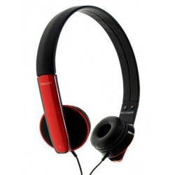 Maxell HP-Mic Headphones Red