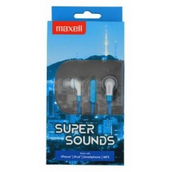 Maxell SuperSound earphone + Microphone Blue