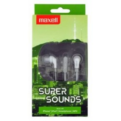 Maxell SuperSound earphone + Microphone Gray