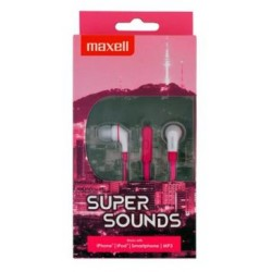 Maxell SuperSound earphone + Microphone Pink