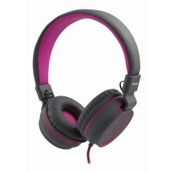 MS Fever 2 Headphones with microphone Gray Purple Leather