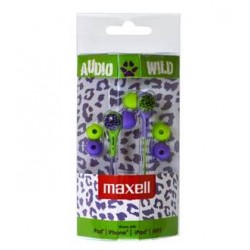Maxell AUDIO WILD BUDS earphone Green/Purple