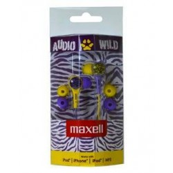Maxell AUDIO WILD BUDS earphone Purple/Yellow