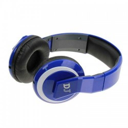 Big DJ Headphones DJ-5899 Foldable with removable cable Gaming Denim Blue